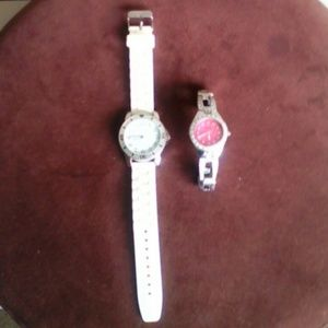 2 water resistant watches.